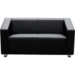 Cube Lounge Two Seater 1430Wx880Hx720mmD Black leather