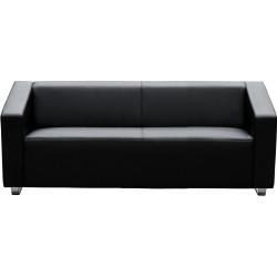 Cube Lounge Three Seater 2000Wx880Hx720mmD Black leather