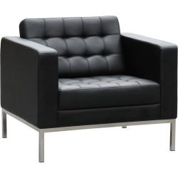 Como Lounge Single Seater 870Wx770Hx770mmD Black leather