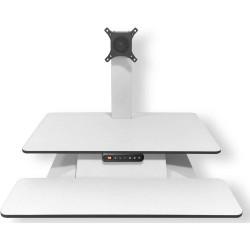 Standesk Electric Desk Top Sit Stand Unit With 3 Button Memory Controller White