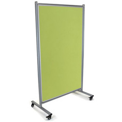 VISIONCHART MOBILE PINBOARD MODULO Double-sided Lime 1800 x 1000mm