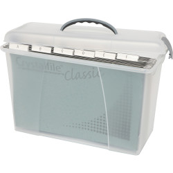 Crystalfile Carry Case 18L Foolscap Clear