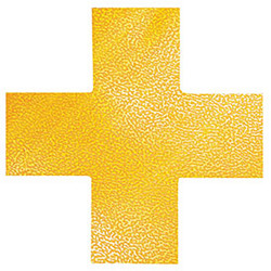 DURABLE FLOOR MARKING SHAPE - CROSS Yellow Pack of 10
