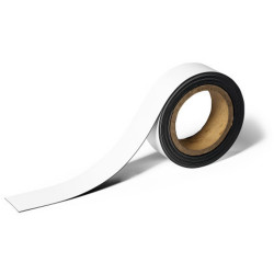Durable Magnetic Labelling Tape 40mmx5m White
