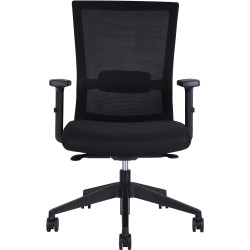 Portland Mesh Chair Black with Arms
