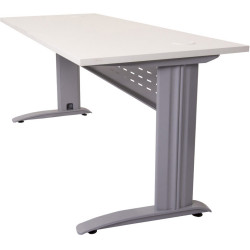 RAPID SPAN OPEN WORKSTATION 1200W x 700D x 730mmH NW with Brushed Silver Frame