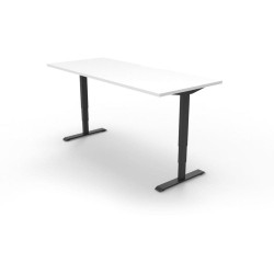 Boost Electric Height Adjustable Desk 1200Wx750D White Top Black Frame