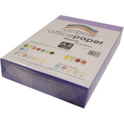 Rainbow Office Copy Paper A4 80gsm Mauve Ream of 500