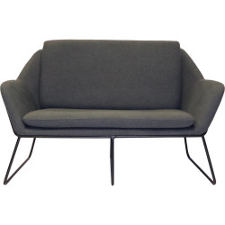 Cardinal Lounge Chair 2 Seater 1335Wx690Dx890mmH Charcoal Ash