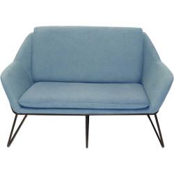 Cardinal Lounge Chair 2 Seater 1335Wx690Dx890mmH Light Blue