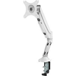 Rapidline Executive Gas Spring Single Monitor Arm White