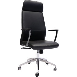 Rapidline High Back Slimline Executive Chair Black PU