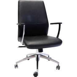 Rapidline Medium Back Slimline Executive Chair Black PU