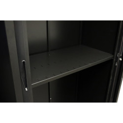 Go Steel Tambour Accessory Slotted Shelf 900mmW Black
