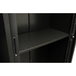 Go Steel Tambour Accessory Slotted Shelf 1200mmW Black