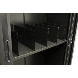 Go Steel Tambour Accessory Shelf Divider Pack of 5  Black