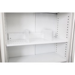 Go Steel Tambour Accessory Slotted Shelf 900mmW White