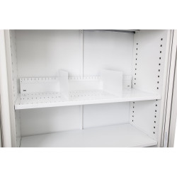 Go Steel Tambour Accessory Slotted Shelf 1200mmW White