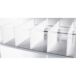 Go Steel Tambour Accessory Shelf Divider Pack of 5  White