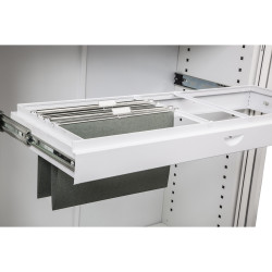 Go Steel Tambour Accessory Roll Out File Frame 1200mmW White
