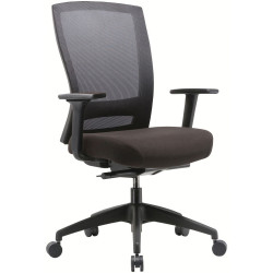 Buro Mentor Mesh Back Task Chair With Arms Black