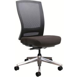 Buro Mentor Mesh Back Task Chair Aluminium Base No Arms Black Fabric Seat Mesh Back