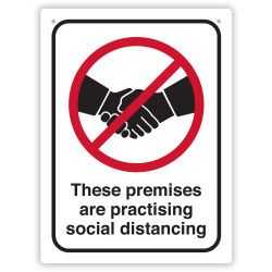 DURUS HEALTH AND SAFETY SIGN Wall Sign Social Distance Black and Red