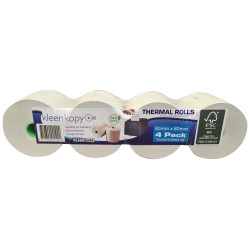 KLEENKOPY Thermal Register Rolls 80mm x 80mm x 17mm Pack of 4