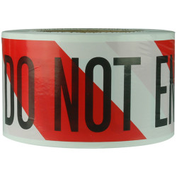 Trafalgar Economy Barricade Tapes Red/White Stripes 75mmWx1500mm