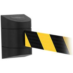 Trafalgar Tensabarrier Wall Mount Barrier Units 7.7m Webbing Black/Yellow