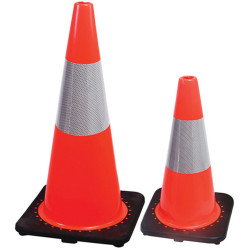Trafalgar Value Traffic Cone PVC Orange High Visibility H450xW270xD270mm