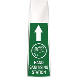 Brady Hand Sanitising Station Mini White/Green H900xW280xD255mm