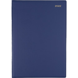 Collins Belmont Pocket Diary 2 Days To A Page A4 Navy