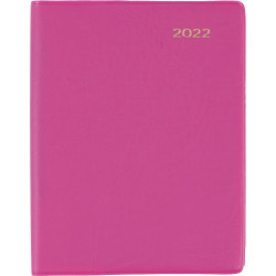 Collins Belmont Colours Diary Week To View A7 With Pencil Pink