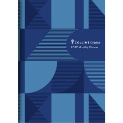 Collins Colplan Planner Month To View A4 Blue Geo