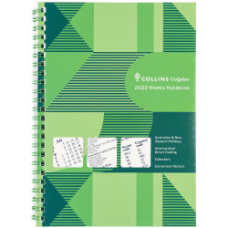 Collins Colplan Diary Week To A Page A4 With Notes Green