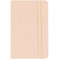 Debden Designer Diary Week To View D36 Textured Fabric Peach