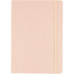Debden Designer Diary Week To View A5 Textured Fabric Peach