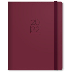 Collins Plan And Note Diary Week To View A5 With Notepad Maroon