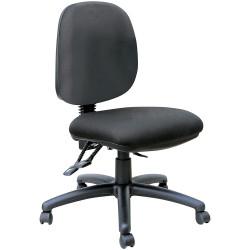 Mondo Java Medium Back Office Chair 3 Lever Mechanism Black Fabric Seat and Back