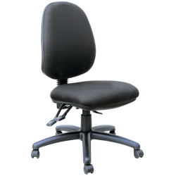 Mondo Java High Back Office Chair 3 Lever Mechanism Black Fabric Seat and Back