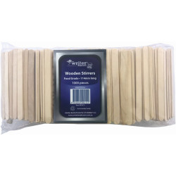 Writer Disposable Wooden Stirrers 114mm Pack of 1000