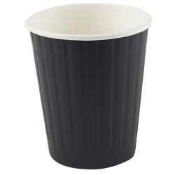 Writer Disposable Double Wall Paper Cups 227ml 8oz Box of 500 Black