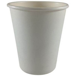 Writer Disposable Single Wall Paper Cups 227ml 8oz Box of 1000 White