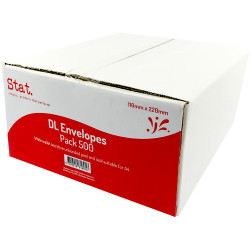 Stat Peel And Seal Envelope DL Secretive White Pack of 500
