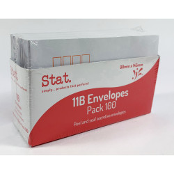 Stat Peel And Seal Envelope 11B Secretive White Pack of 100