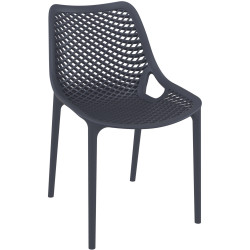 Air Indoor Outdoor Cafe Chair Extra Strong UV Stabilised Polypropylene Anthracite