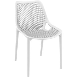 Air Indoor Outdoor Cafe Chair Extra Strong UV Stabilised Polypropylene White