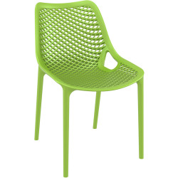 Air Indoor Outdoor Cafe Chair Extra Strong UV Stabilised Polypropylene Green