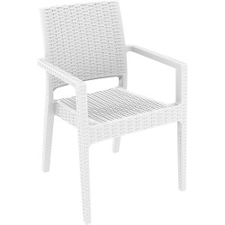 Ibiza Indoor Outdoor Armchair Injection Moulded Resin UV Stabilised White